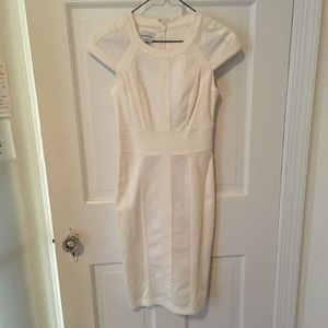 Bebe white fitted dress